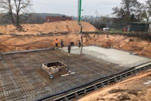 Panorama Terrassen: Januar 2019: Erstellung der Bodenplatte