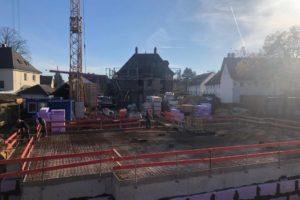 Panorama Terrassen: März 2019: Kellerbau abgeschlossen