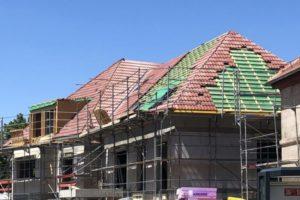 Panorama Terrassen: Juli 2019: Dacheindeckung