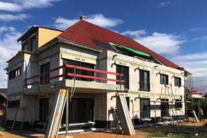 Panorama Terrassen: August 2019: Fertigstellung von Elektro- und Sanitärinstalation