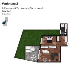 Regnitz Terrassen Wohnung 2