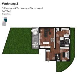 Regnitz Terrassen Wohnung 3