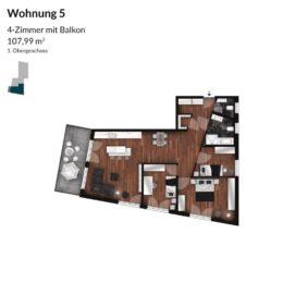 Regnitz Terrassen Wohnung 5