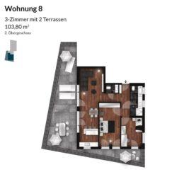 Regnitz Terrassen Wohnung 8