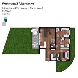 Regnitz Terrassen Wohnung 3 Alternative