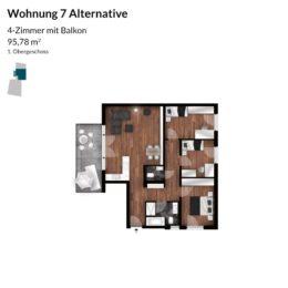 Regnitz Terrassen Wohnung 7 Alternative