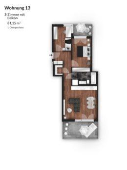 Bibert Terrassen - Wohnung 13
