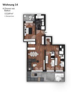 Bibert Terrassen - Wohnung 14