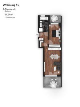 Bibert Terrassen - Wohnung 15