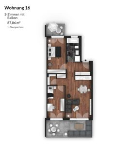 Bibert Terrassen - Wohnung 16
