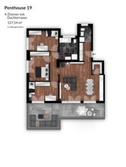 Bibert Terrassen - Penthouse 19