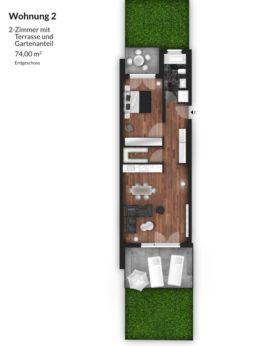 Bibert Terrassen - Wohnung 2