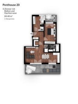Bibert Terrassen - Penthouse 20