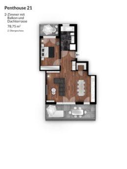 Bibert Terrassen - Penthouse 21