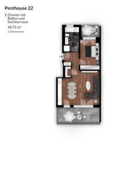Bibert Terrassen - Penthouse 22