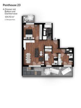 Bibert Terrassen - Penthouse 23