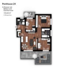 Bibert Terrassen - Penthouse 24