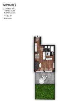 Bibert Terrassen - Wohnung 3