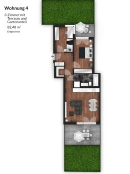 Bibert Terrassen - Wohnung 4