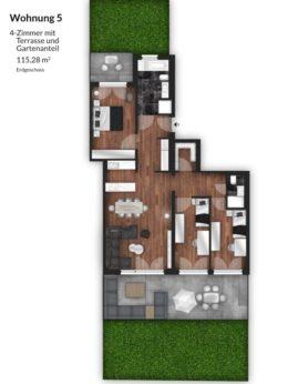 Bibert Terrassen - Wohnung 5