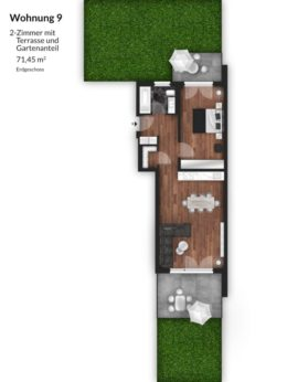 Bibert Terrassen - Wohnung 8