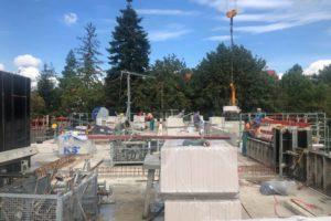 Lindengärten - September 2020: Mauerarbeiten
