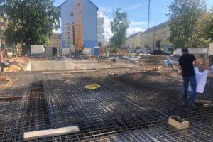 Regnitzterrassen – August - September 2020: TG steht und die Decke wird betoniert