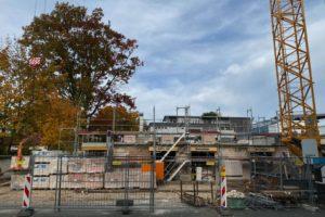 Regnitzterrassen – Oktober 2020: Erdgeschoss ist fertiggestellt. 1. OG wurde begonnen.