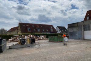 Bibert Terrassen - April 2021: Abbrucharbeiten beginnen