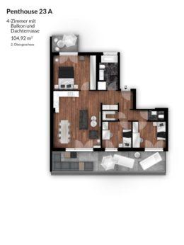 Bibert Terrassen - Penthouse 23 A
