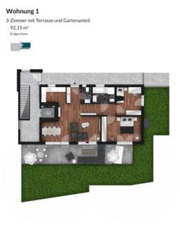 Pegnitz Gärten - Wohnung 1