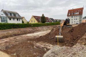Erdarbeiten in der Oberasbacher Straße in Zirndorf